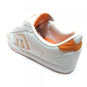 Etnies ETNIES Easy E White Orange - Zapatillas de piel de cerdo para mujer multicolor White Orange