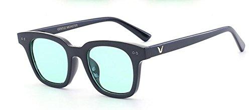 du polarisées Vert inspirées lunettes en rond retro soleil de style Lennon métallique Film cercle vintage ISqRqUTgxw