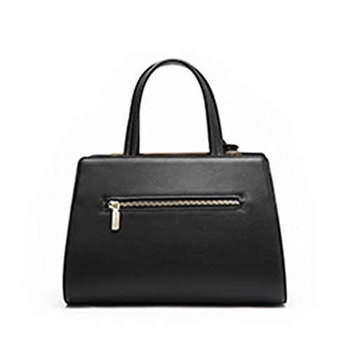 black Multiple Pockets Dissa Women Handbags Shoulder Hard Q0936 Leather Bag xSxZIqBz