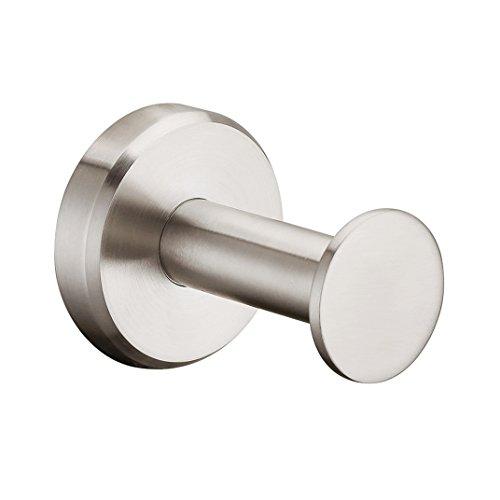 APL-8309C SUS304 Stainless Steel Simple Round Robe Hook Coat Hook, Brushed Nickel
