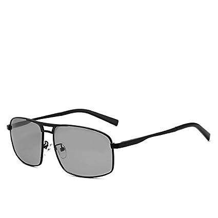 a8f3483f66 LLZTYJ Gafas De Sol UV Aire Viento Día Y El Color Gafas De Sol Polarizador  Caja del Espejo Gafas De Sol Conductor Coche Gafas De Sol Marco Decorativo  Negro ...