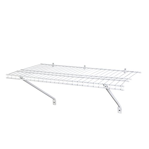 ClosetMaid 1021 Wire Shelf Kit, 2-Feet X 12-Inch, White (Closet Shelf)