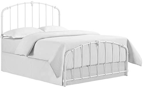 Crosley Furniture CF91005-503WH Hazel Curved Metal Headboard and Footboard, Queen, White