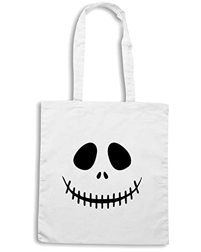 SKELETON Shirt Speed OLDENG00241 FACE Borsa Bianca Shopper OPxxARX