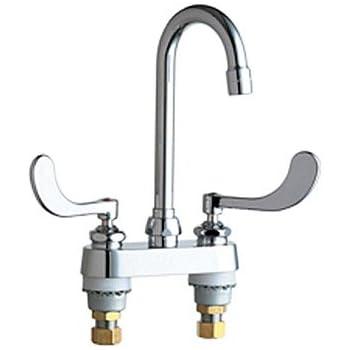 Chicago Faucets 895 317abcp Deck Mounted Gooseneck Faucet