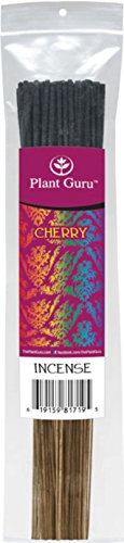 Cherry Exotic Incense Sticks, 185 Grams in Each Bundle 85 to 100 Sticks, Premium Quality Smooth Clean Burn, Each Stick Is 10.5 Inches Long Burn Time is 45 to 60 Minutes Each Stick.