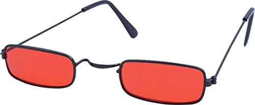 Vampire Glasses Black with Red Lenses Costume Accessory