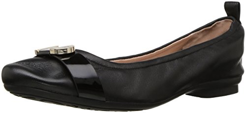 Taryn Rose Womens Abriana Nappa / Soft Ballet Balletto Nero / Nero