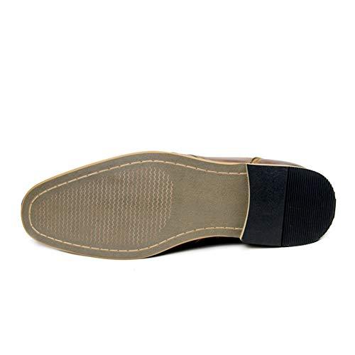 SHANGWU Zapatos De Cuero De Los Hombres De Gama Alta Otoño E Invierno ade2182079479