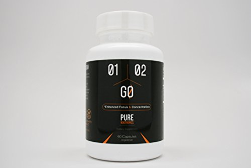 1-2-Go - Nootropic Stack with Caffeine, L-theanine, and Theobromine - Enhanced Focus & Concentration