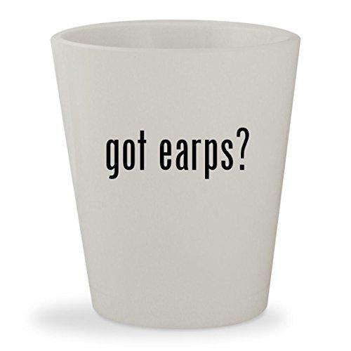 got earps? - White Ceramic 1.5oz Shot Glass (Glass Clock Morgan)