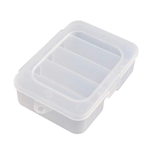 Xturfuo Fishing Gear Box Plastic Fishing Lure Tackle Storage Box Case Container With10 Compartments