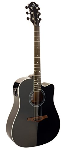 Hohner Guitars A+ by Hohner AS305CE-BK Acoustic-Electric Guitar, ,