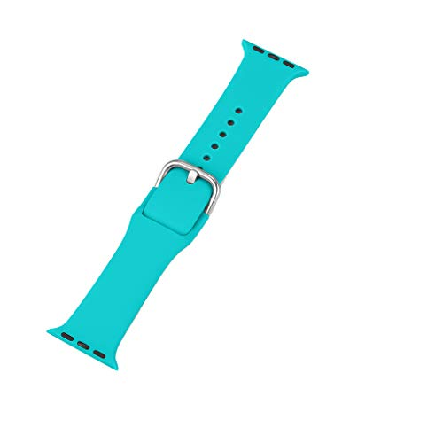 Tonsee Waterproof Watch Band,Adjustable Perfect Replacement Sports Soft Silicone Wristband Strap for iWatch Series 2/3/4 42/44MM for Men Women