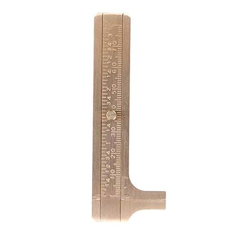 Mini Sliding DIY Vernier Caliper Brass Gauge Ruler Micrometer Measurement Tool double scale 100mm Style D