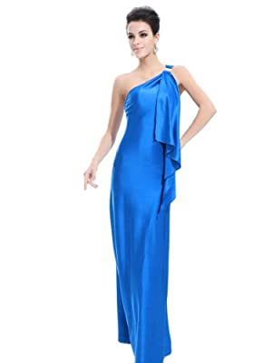 Ever Pretty Womens Stretchy Single Shoulder Prom Gown Evening Dress 09463
