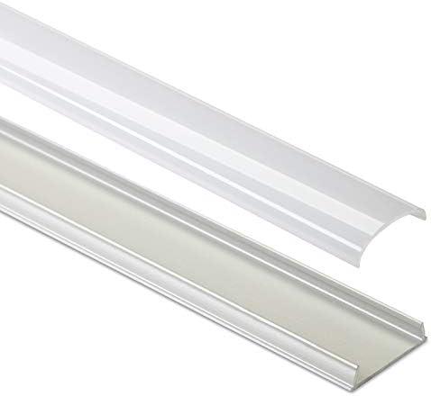10 x biegsames LED Profil-42 Aluminium eloxiert 2000 x 17 x 5 mm mit opaler Abdeckung für LED Stripes bis 12 mm Breite Aluprofil Profilleiste Aufbauprofil von SO-TECH®