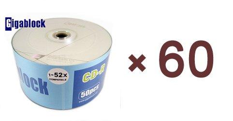 3000pcs CD-R 52x A Grade High Quality Gigablock Branded Blank Media Fast Shipping Guarranteed