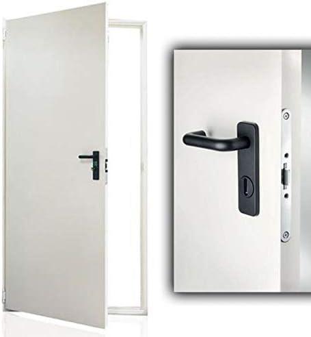 Puerta fabricada en chapa de acero galvanizado - Barnizada ...