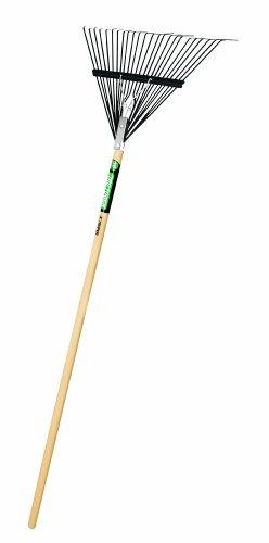 Truper 30480 Tru Tough Steel Leaf Rake, 24-Inch Head, Wood Handle, 54-Inch by Truper
