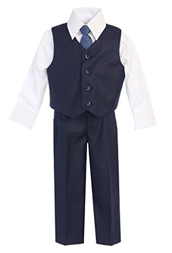 (iGirlDress Baby Boys Vest Pants Special Occasion Easter Outfit Set 12-18mo Navy)
