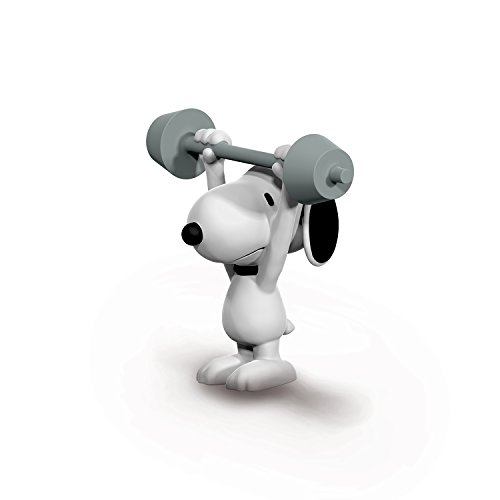Schleich Peanuts Weightlifter Snoopy Toy Figure ()