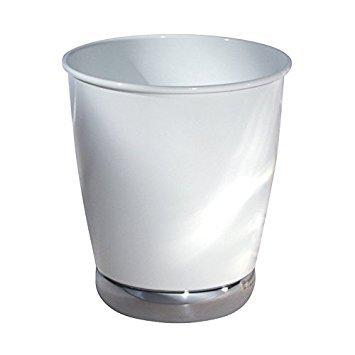 mDesign Juego de 4 accesorios para el baño con dosificador de jabón, soporte para cepillos de dientes, jabonera de baño y papelera - Elegante set de baño de ...