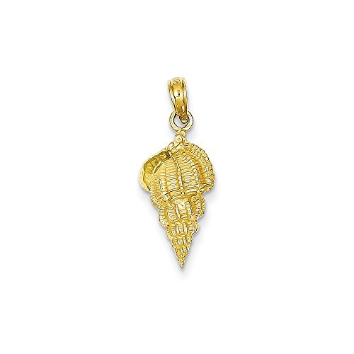 (14K Yellow Gold Conch Shell Pendant from Roy Rose Jewelry)