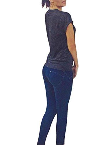 Jeans Donna Burvogue Dark Nero Blu dHggX