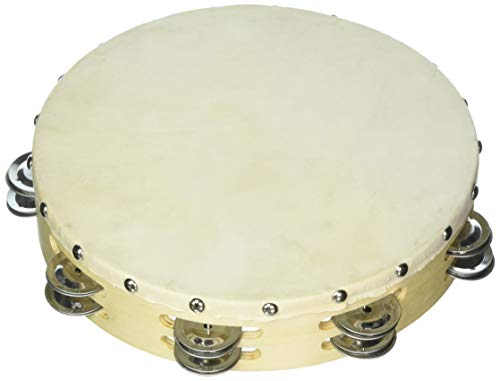 Grover/Trophy B310D Tambourines with Non-Replaceable Skin Head - 10