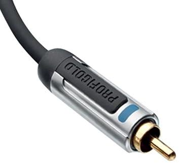 Subwoofer de audio Profigold CI PROA4105 cable RCA macho a RCA macho de 5 m