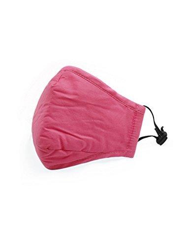 eDealMax Unisex Anti-polvo Mascarilla w Filtro de carbón activado rosa