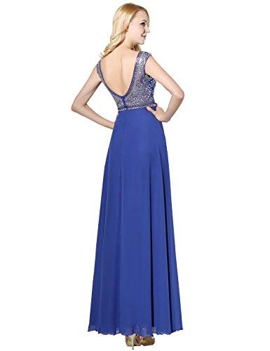 Lang Ballkleid Gelb mit Erosebridal Chiffon Abendkleider Damen Strass Eq7RnwUOx