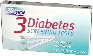 SURESIGN DIABETES URIN SCREENING TEST KIT. ERKENNT Glukose im Urin. 3 Tests, FAST & EASY TO USE - (UK Import)