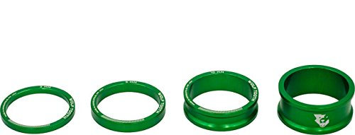 Wolf Tooth Components Headset Spacer Kit 3, 5,10, 15mm, Green by Wolf Tooth Components (Image #1)