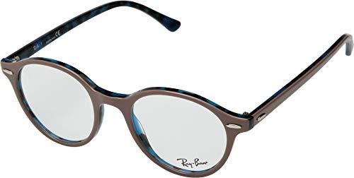Ray-Ban RX 7118 5715 Eyeglasses Top Light Brown on Havana - Havana Light Eyeglasses Frame