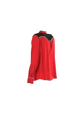 Camicia Donna Pinko 46 Rosso/nero Marzaiola Autunno Inverno 2016/17