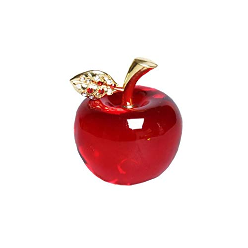 Glass Apple Paperweight - 5