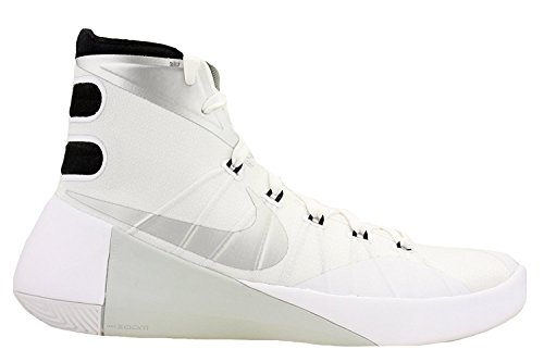 NIKE Men's Hyperdunk 2015 TB Basketball Shoe White/Silver