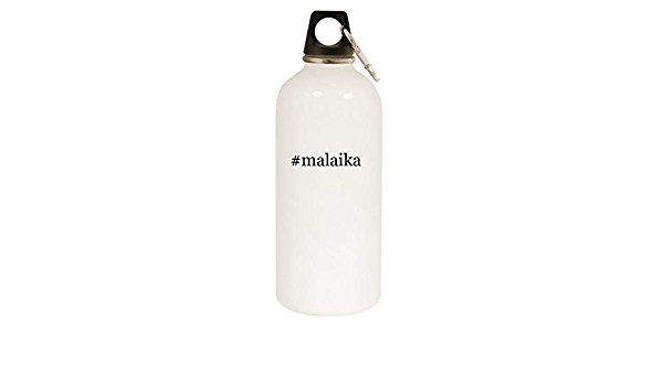 Amazon Com Malaika 20oz Hashtag Stainless Steel White Water Bottle With Carabiner White Kitchen Dining