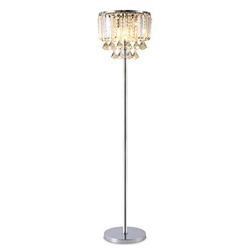 Luxury Crystal Floor Lamp, Cut Glass E14 Metal Standing Lamp for Living Room, Bedroom, H158cm × D35cm ()
