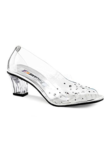 Funtasma Women's Crystal-100 Slide Pump, Clear/Clear, 9 M US - Shoes Clear Slide