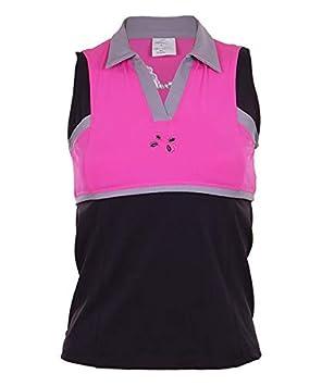 OCHO PADEL Camiseta Negra-Rosa: Amazon.es: Deportes y aire libre