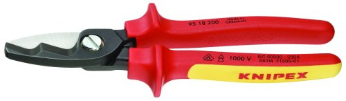 Knipex 9518200SBA 8-Inch Cable Shears - 1,000 Volt