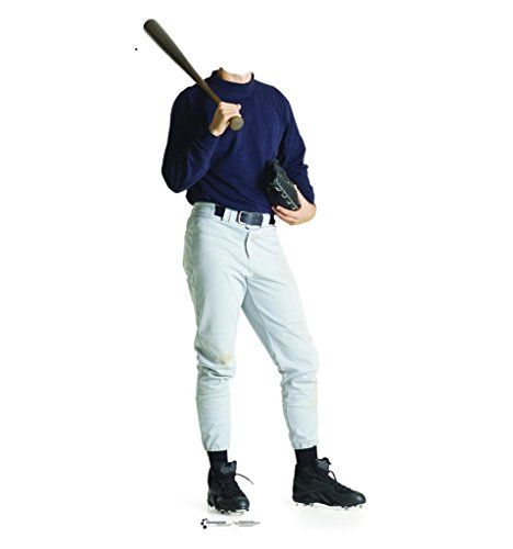Athlete Sports Costumes (Baseball Player Stand-In - Advanced Graphics Life Size Cardboard Standup)