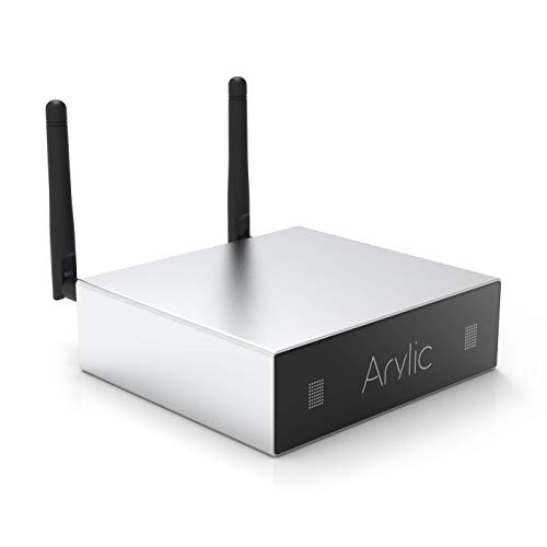 WiFi & Bluetooth Amplifier,STA326 WIith 50+50W 24V DC/2.0 Stereo Channel,Airplay DLNA,Multiroom Sync, 24bit 192 kHz HiFi Audio Streaming Integrated Amp for Home Speakers-Arylic A50