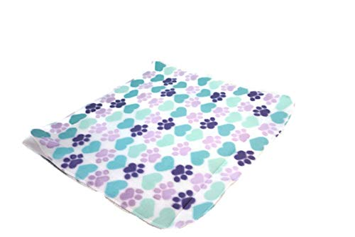 Waterproof pet mat-purple paws 20x20