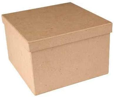 Factory Direct Craft Package of 3 Paper Mache Square Boxes Ready to Personalize and Display for Crafting Projects