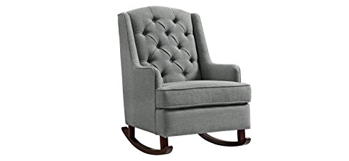 Baby Relax Zoe Tufted Rocking Chair- Gray by Baby Relax