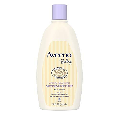 (Aveeno Baby Calming Comfort Bath with Lavender & Vanilla, Hypoallergenic & Tear-Free, 18 fl. oz)